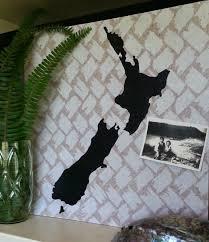 World Map Cork Board by New Zealand Map Pinboard Hand Painted Cork Board Felt