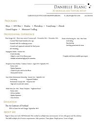 Example Artist Resume 3d Artist Resume Format Virtren Com