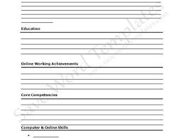 Pdf Resume Templates 26 Blank Resume Templates To Print 40 Blank Resume Templates Free