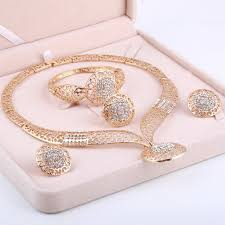 crystal bridal bracelet images Dubai gold jewelry sets nigerian wedding african beads crystal jpg