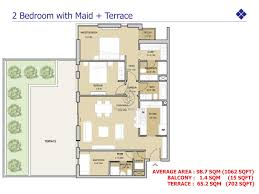 arabian ranches floor plans views 2 bedroom apt with maid u0026 terrace floor plan