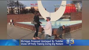 Pennsylvania Travel Potty images Michigan proposal upstaged by toddler showing off potty training jpg