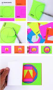 math book art my shape book shape activities for kids
