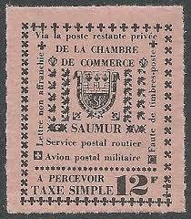 chambre de commerce saumur 1953 saumur local filatelia