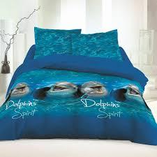dolphins 100 cotton bed linen set duvet cover u0026 pillow cases