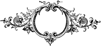 baroque printers ornaments frame the graphics