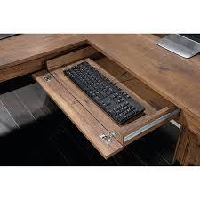 sauder l shaped desk dover oak finish best home furniture decoration