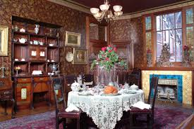 dining room great victorian dining room in red wall color for
