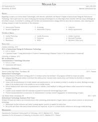 education training and library resume samples