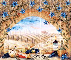 Kitchen Backsplash Tiles For Sale Italian Tile Murals Tuscany Backsplash Tiles