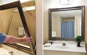 diy bathroom mirror frame ideas framed mirrors for bath bathroom mirror frames
