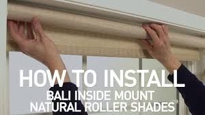 how to install bali natural roller shades inside mount youtube