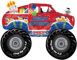 monster truck show austin monster truck happy birthday balloon bouquet round balloons