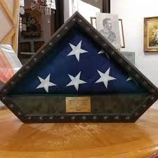 Army Service Flag Custom Flag Frames U0026 Medallion Boxes For All Branches Of Military