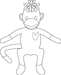 sock monkey coloring pages for kids enjoy coloring coloring