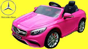 light pink mercedes pink mercedes s63 amg kids ride on walkaround 12v power wheels