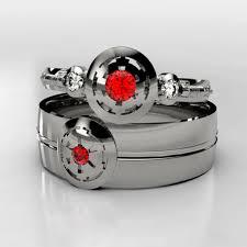 wars wedding rings palladium wars empirial ruby wedding ring set matching