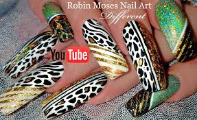 animal print nail art long leopard nails with holo glitter and