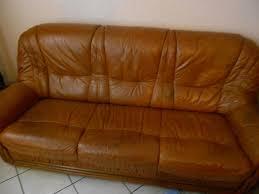 canapé en cuir marron canapé 3 places en cuir marron