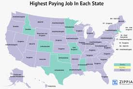 All Fifty States Zippia Maps Show The Highest And Lowest Paying Jobs In Each State