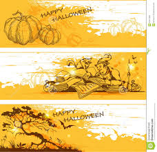 Happy Halloween Banners by Yellow Halloween Banners Royalty Free Stock Image Image 33417066
