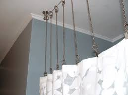 Two Sided Shower Curtain Rod Ceiling Mounted Curved Shower Curtain Rods Inspiring Bridal Within