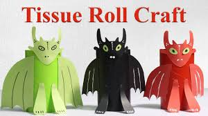 tissue roll dragon monster diy cardboard tube crafts for kids