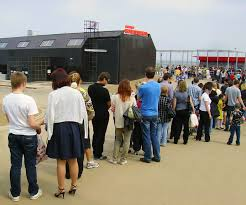 Ticket Desk File A Queue Of People To Ticket Desk Of Nizhny Novgorod Aerial