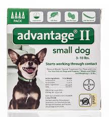advantage ii small dog green 3 10 lb 4 ct ebay