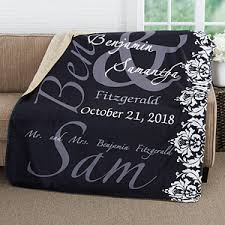 personalized wedding blankets personalized wedding blanket 60x80 premium sherpa wedding gifts