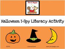halloween i spy literacy activity