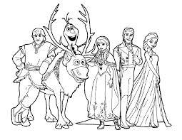 127 dessins de coloriage La Reine des Neiges à imprimer