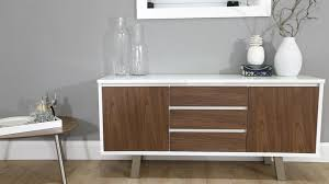 white gloss and walnut sideboard danetti youtube