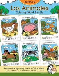 los animales color word bundle bundle 6 coloring pages