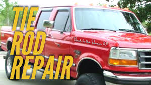 1997 ford f 350 tie rod replacement easy how to instructional