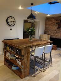wooden kitchen island industrial mill style reclaimed wood kitchen island condo ideas