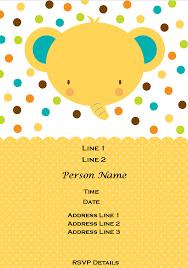 design free baby shower invitation template