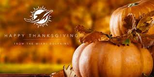 miami dolphins on happy thanksgiving strongertogether