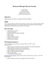 Food Service Skills Resume  fast food manager resume sample     happytom co