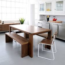 Modern Rectangle Dining Table Design Contemporary Rectangle Brown White Wooden Narrow Kitchen Table