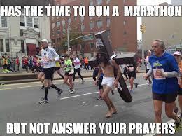 Running Marathon Meme - scumbag jesus by mr morningstar meme center