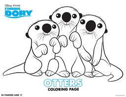love coloring pages printable print this adorable picture of the otters in finding dory your