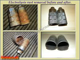electrolysis rust removal method metal casting projects