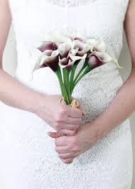calla bouquet white purple real touch calla bouquet picasso