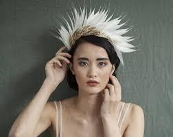 wedding headdress bridal headdress etsy