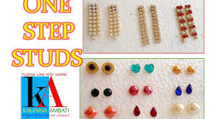 make your own earrings studs of one step earring studs at home tutorial diy at home