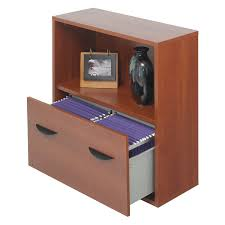 Single Drawer Lateral File Cabinet Safco Lateral Filing Cabinet With Bookshelf Cherry Hayneedle