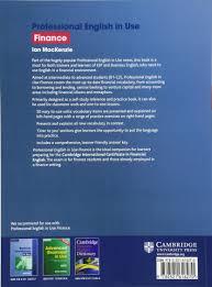 professional english in use finance ian mackenzie 9780521616270