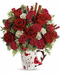 christmas floral arrangements mail4rosey new christmas floral arrangements from teleflora give