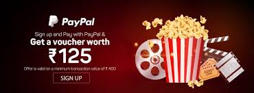 paypal rs 125 discount voucher on next movie ticket booking on